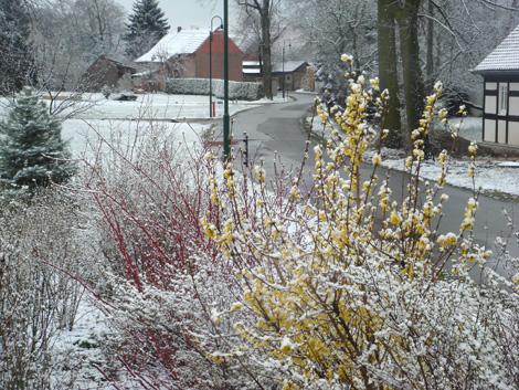 Schnee am Ostersonntag